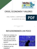 CRISIS, ECONOMÍA Y VALORES.
