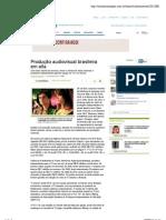 Produção audiovisual brasileira em alta