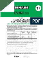 Tecnologia Gestao Ambiental Gabarito Preliminar Enade2010