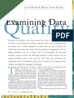 Examining Data Quality
