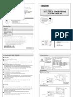 KDP 205 KLP 1000 Manual