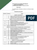 Programa Ecuaciones Difenciales Semestre 02-2011