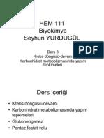 111 Biyokimya Ders 8