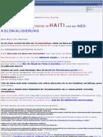 HAITI -  Die Erdbebenkatastrophe + die Neokolonialisierung