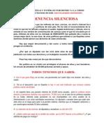 14. LA DENUNCIA SILENCIOSA - ¡REVOLUCIÓN SOCIAL YA!