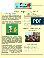 Parent's Weekly Newsletter Captain Munch Week 2