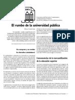 1. El rumbo de la educacion pública