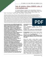 KDIGO Transplantation Guidelines_Spanish