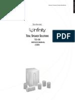Infinity TSS-450 Service Manual