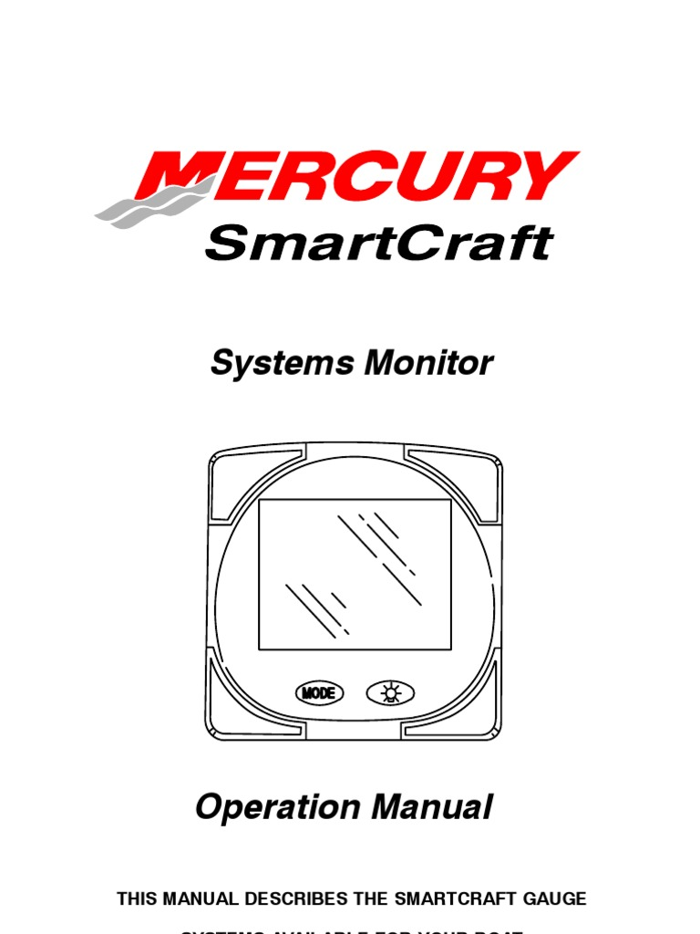 mercury smartcraft systems monitor install manual