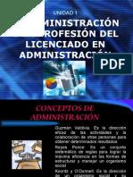 Administracion y profesion del licenciado en Mexico