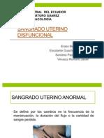 SANGRADO UTERINO DISFUNCIONAL