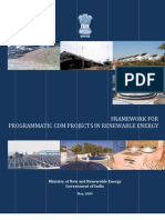 Framework for Programmatic CDM Projects in Renewable Energy