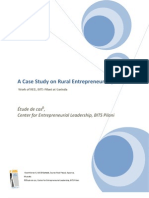 A Case Study on Rural Entrepreneurship