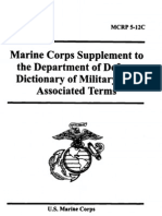 Marine Corps Supplement to the DoD Dictionary of Military and Associated Terms