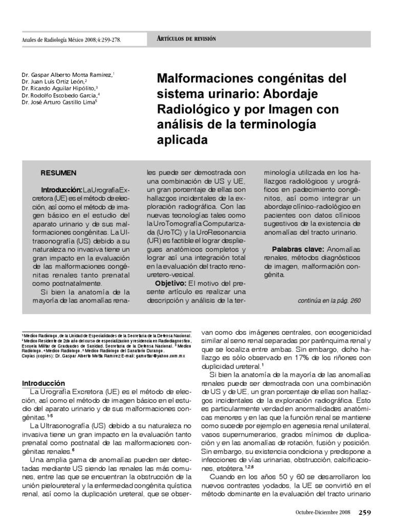 Malformaciones sistema urinario