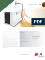 LG Network Storage N1A1 Spec Sheet