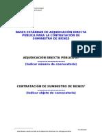 Contratacion de Suministro por Adjudicación Directa Pública