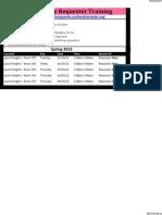 UCSF BearBuy Requester Training Schedule September - December 2011v3