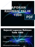 LAPORAN RAHMAN TALIB 1960