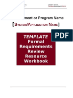 TEMPLATE Requirements Review Workbook