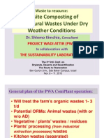 Composting of Agricultural Wastes Under Dry Weather Conditions