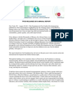 Fpcd Press Release 2010 Annual Report