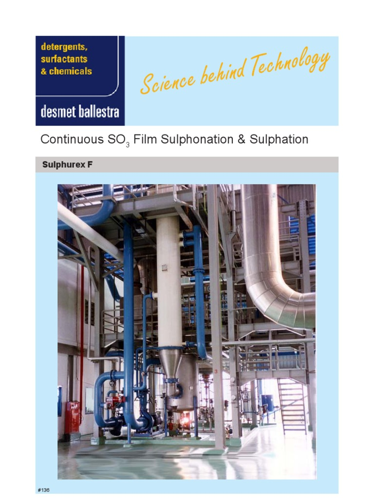 Sulphonation (Ballestra) | Sulfur Dioxide | Refrigeration