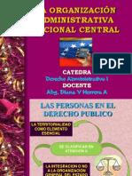 La Organización Administrativa Nacional Central