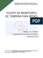 Equipo de Monitoreo de Temperatura Mt001