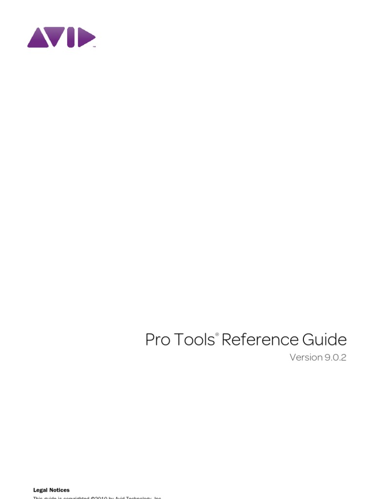 Pro Tools Reference Guide v902 71009 | Sound Technology | Audio Electronics