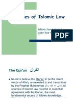 3 Sources of Islamic Law