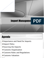 Import Mgmt.