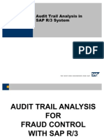 Audit Trail Analysis in SAP R3 System