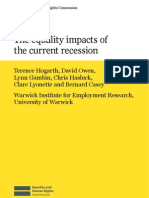 47 the Equality Impacts of the Current Recession