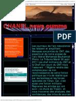 Chanel,News Oumma_ Les journaux de l'arc néocolonial les relaient et amplifi