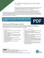 Leadership Model Of Volunteer Engagement - Executive Summary