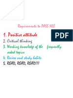 Requirements to PASS NLE