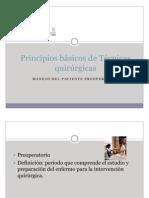 Principios básicos de Técnicas quirúrgicas. (preoperatorio)