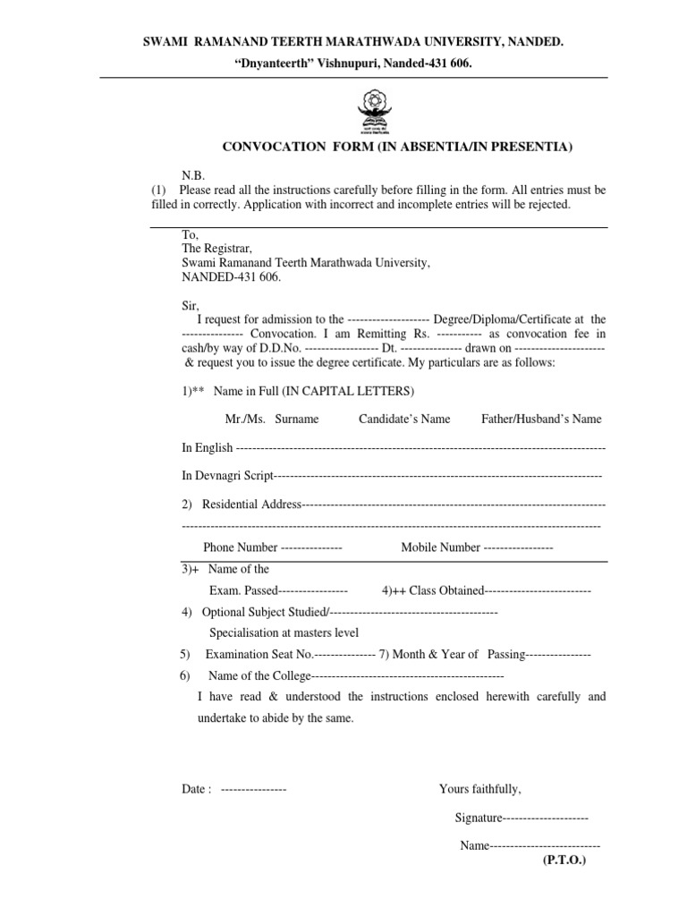 Convocation Form   Fee   Diploma