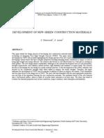 Development of New Green Construction Materials-Vhsc Stone