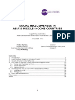 Social Inclusiveness in Asia's Middle Income Countries  (Paper)