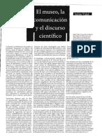 2009 El museo, la comunicación y el discurso científico, Madrid, NOLENS VOLENS Nº 3, 2009