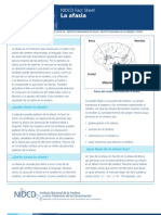 Factsheet Aphasia Spanish