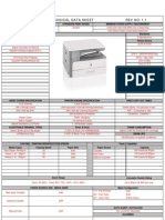 Canon iR1020 Technical Data Sheet