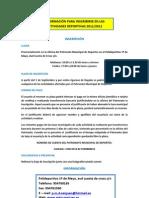 Programa de Actividades deportivas de 2011-2012