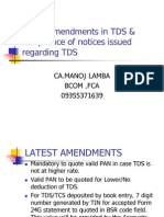 20 Latest Amendments in Tds Compliance of Notices
