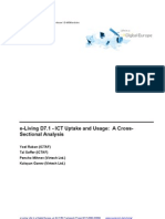 e Living D7.1 ICT Uptake and Usage Issue 1.0 PDF