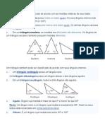 Tipos de triângulos