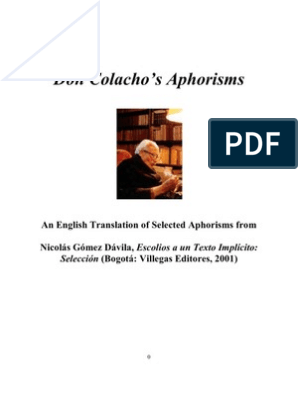 Don Colacho's Aphorisms English) | Catholic Church